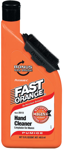 Permatex Pumice Formula Fast Orange Hand Cleaner with Brush-Up Bottle