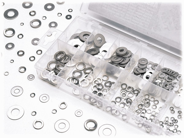 K&L Supply Co. 350 Piece Flat/Lock Washer Kit