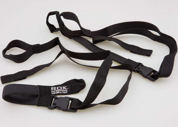 ROK Straps Adjustable 18-60″ Black Motorcycle Cargo Straps