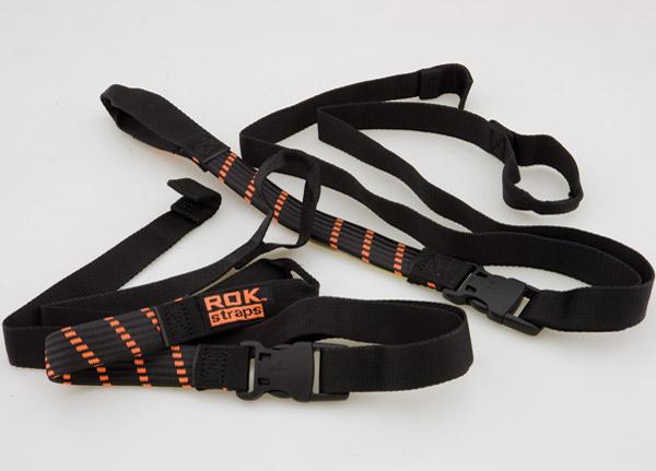 ROK Straps Adjustable 18-60″ Black/Orange Motorcycle Cargo Straps