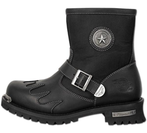 Milwaukee Motorcycle Clothing Co. Burnout Leather Boots for Men