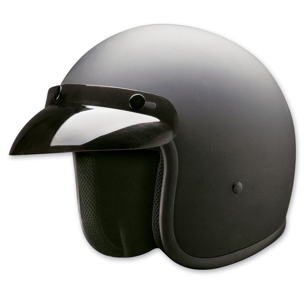 HCI-10 Matte Black Open Face Helmet