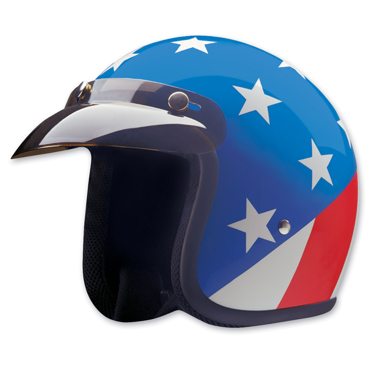 HCI-10 Captain America Red, White and Blue Open Face Helmet
