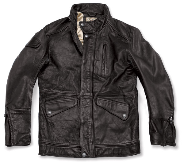 Roland Sands Design Domino Black Leather Jacket