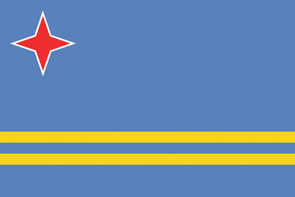 Rumbling Pride Aruba Flag