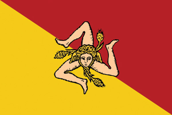 Rumbling Pride Sicily Flag