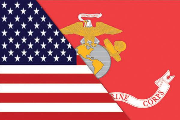 Rumbling Pride Reversible US/Marines Flag