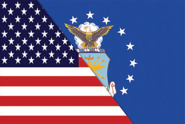 Rumbling Pride Reversible US/Air Force Flag