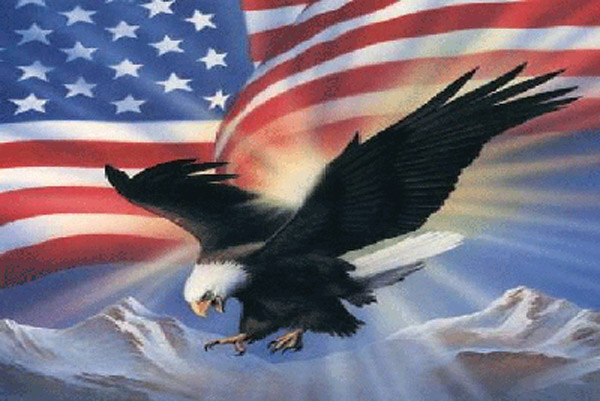 Rumbling Pride Eagle America Flag