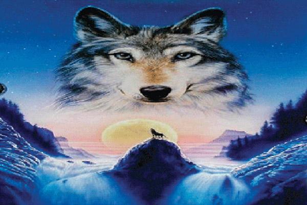 Rumbling Pride Wolf Flag