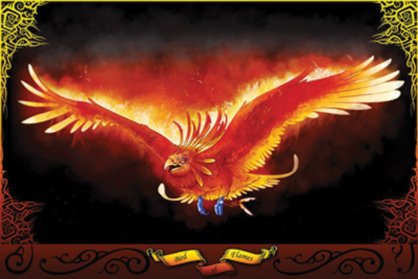 Rumbling Pride Bird of Flames Flag