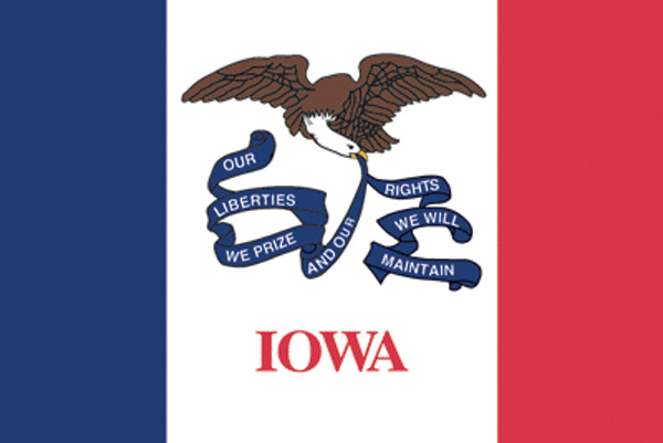 Rumbling Pride Iowa Flag