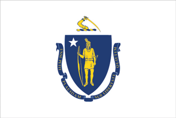 Rumbling Pride Massachusetts Flag