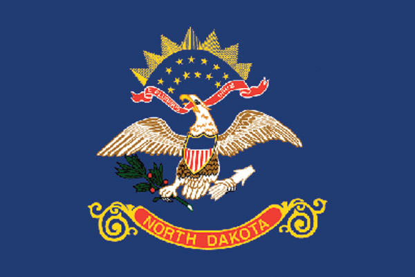 Rumbling Pride North Dakota Flag