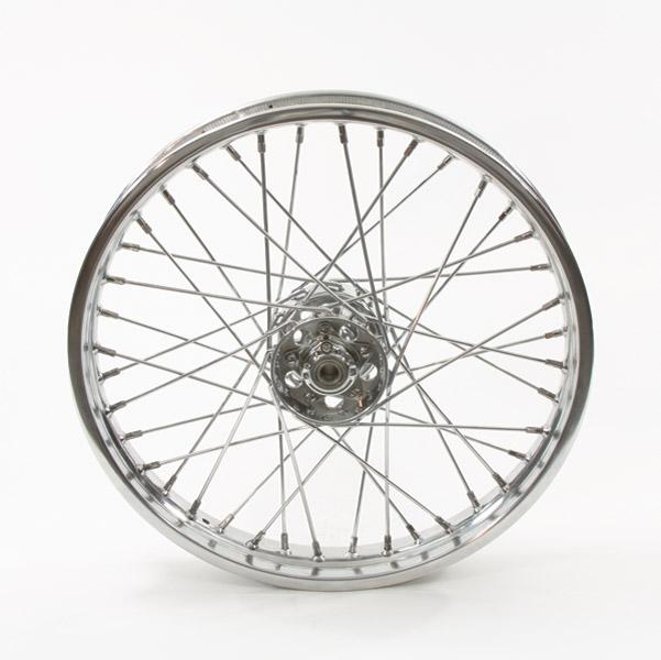 V-Twin Manufacturing Replica 40 Spoke Star Hub Chrome Front Wheel, 21 x 3.25