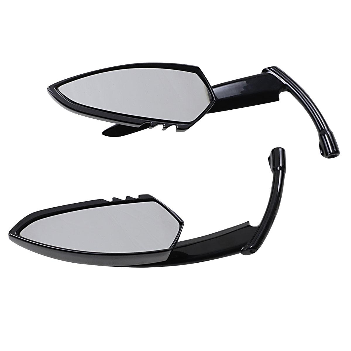 Kuryakyn Gloss Black Scythe Mirror Set 1760 Jpcycles Com