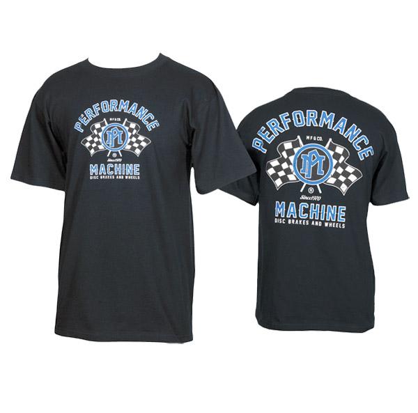 Performance Machine Men's Vintage Race Black T-Shirt
