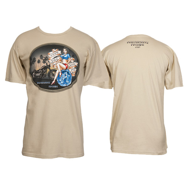 Performance Machine Men's Come Ride With Me Off White T-Shirt