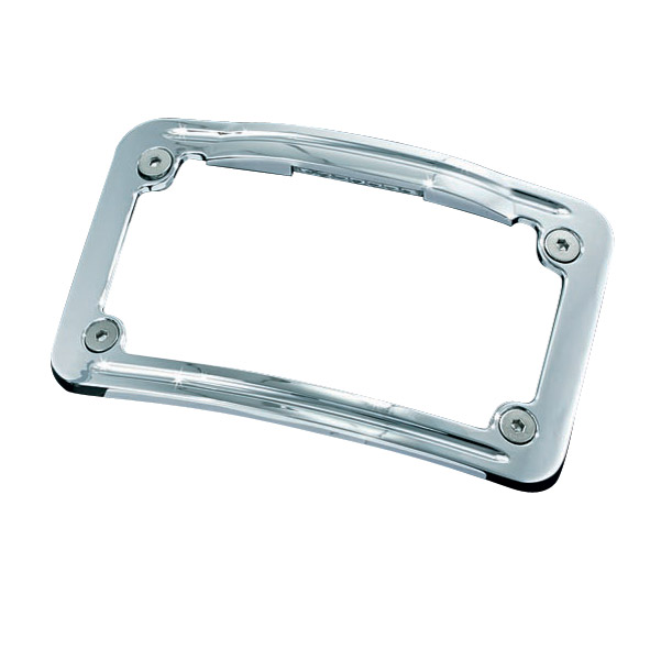 Kuryakyn Curved Lighted License Plate Frame | 446-544 | J&P Cycles