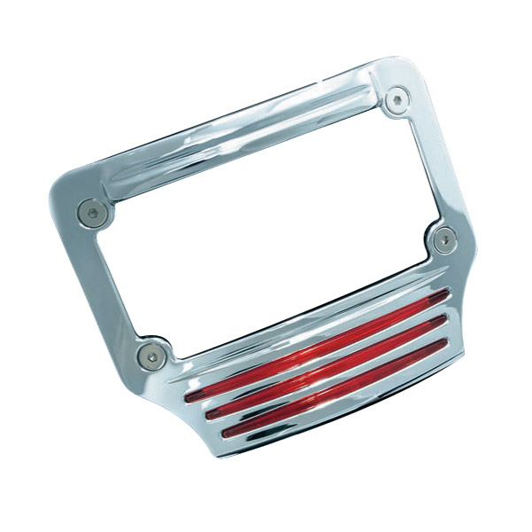 Kuryakyn Curved Lighted Tri-Light License Plate Frame