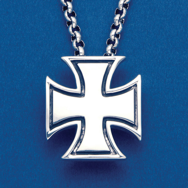 Wildthings Stainless Steel Necklace Maltese Cross with 24″ Chain
