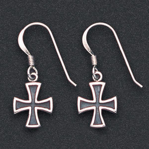 Wildthings Stainless Steel Earrings Maltese Crosses