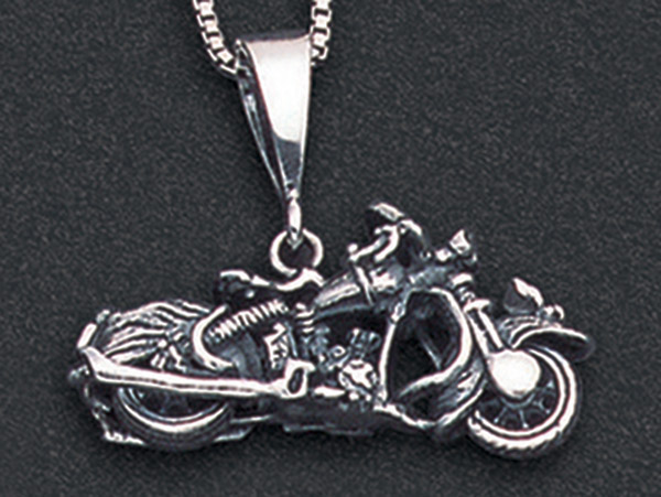 Wildthings Stainless Steel Necklace Vintage Motorcycle with 20″ Chain