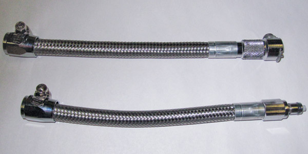 Goodridge Fuel Crossover Line with Quick Disconnect-Stainless - HDFL001