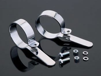 V-Twin Manufacturing Chrome Muffler Hanger Clamps