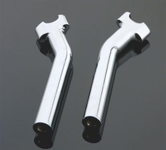 J&P Cycles® Chrome 9-1/2″ Pullback Riser Set