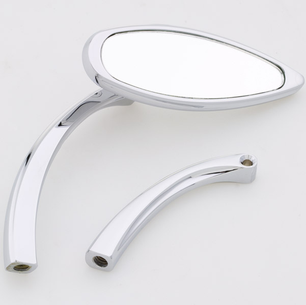 J&P Cycles® Smooth Mini Slim Teardrop Mirror
