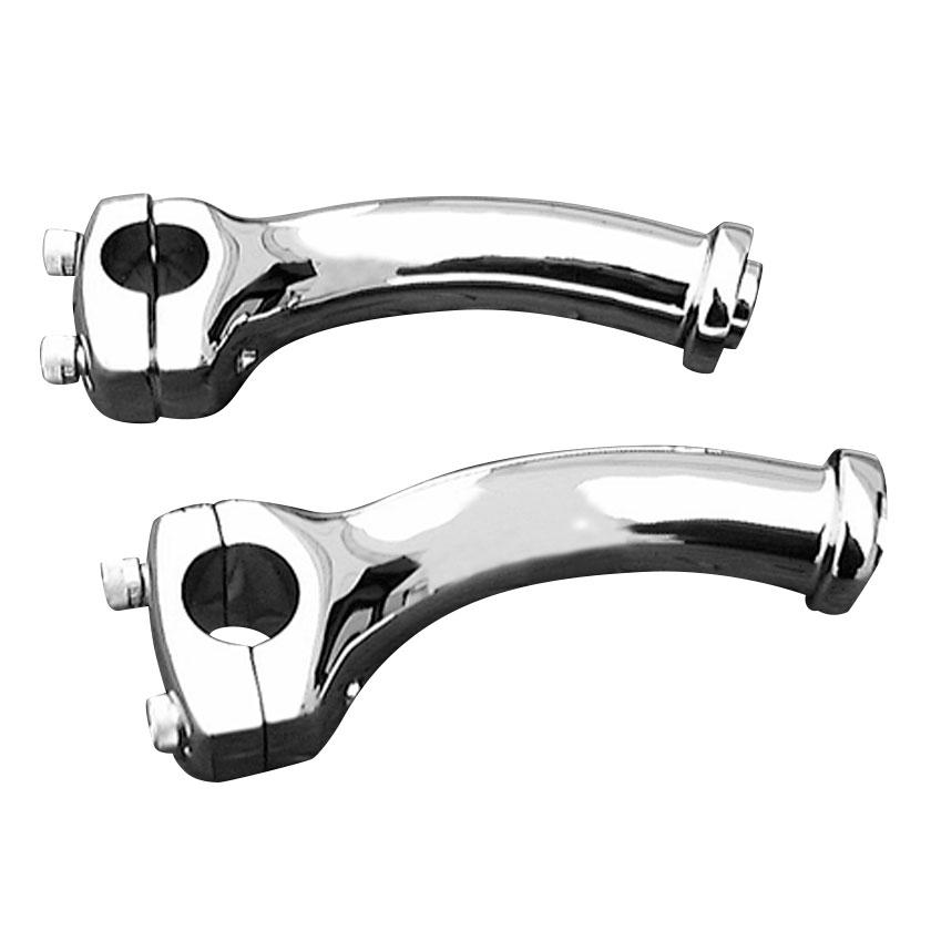 Biker's Choice Chrome Deuce Style Pullback Risers - 56033-00