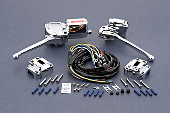 J&P Cycles® Complete Handlebar Control Kit