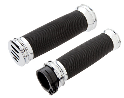 Arlen Ness Soft-Touch Hand Control Chrome Grips