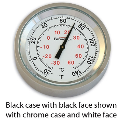 Formotion Classic Series Black Face Thermometer Snap-Back capable