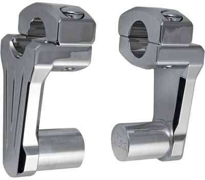 Rox Speed FX 2″ Chrome Pivoting Handlebar Risers