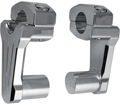 Rox Speed FX 2″ Chrome Pivoting Handlebar Risers - 4R-P2CC02