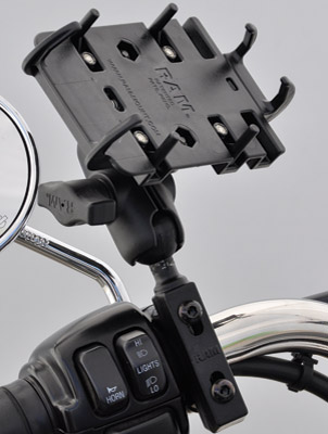 CruisinGear Cell Phone or GPS Mount for Handlebar Switch Housing