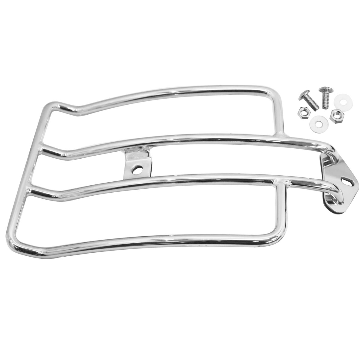 V-Twin Manufacturing Chrome Luggage Rack for FXST Models with 200 Tire