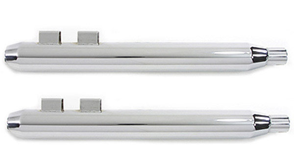 Tedd's Chrome Muffler with Tapered Gun Barrel Ends