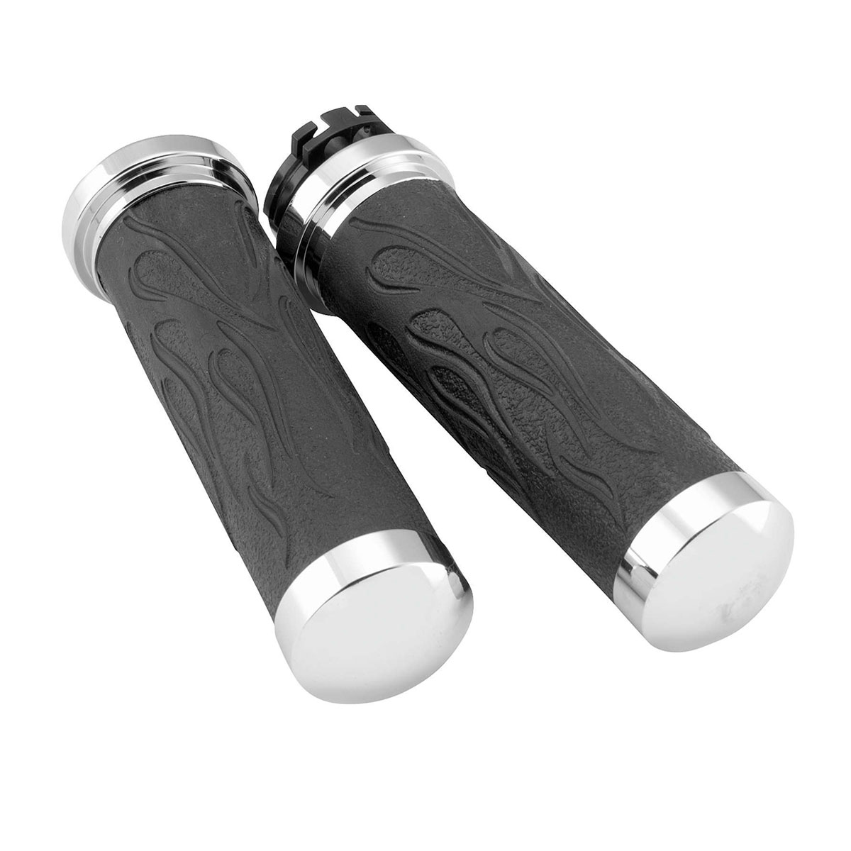 Avon Grips Chrome Flame Grips for Dual Cable Models