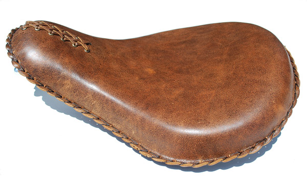 Paughco Distressed Brown Leather Solo Seat