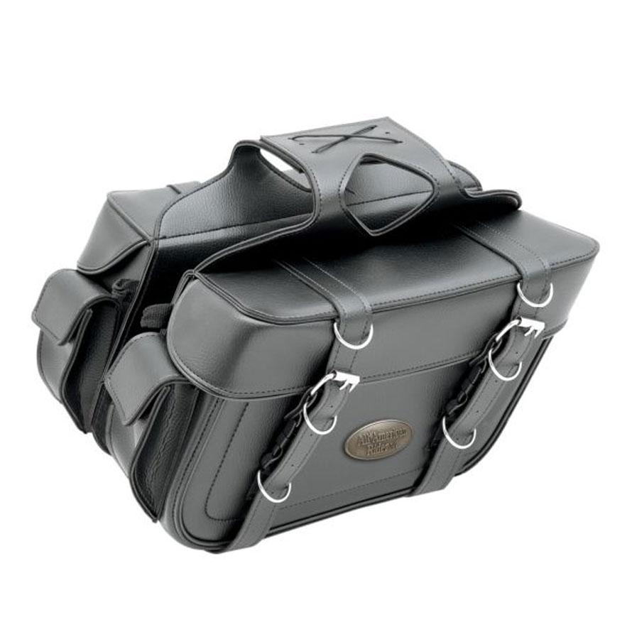 All American Rider Throwover Box-Style Slant Saddlebags