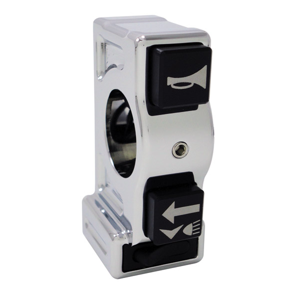 Joker Machine J-Tech 3 Button Left Chrome Switch Housing