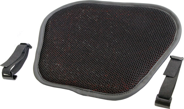 Tech Series Top Pad Black 3D Micro Air Flow with Polymer Insert Large