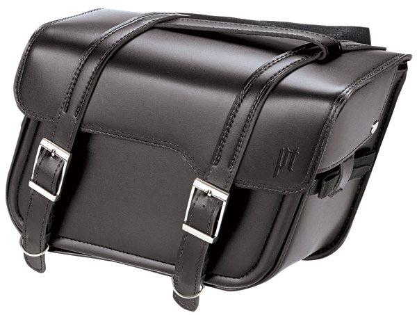 Power Trip large Stealth Black Slant Saddlebag