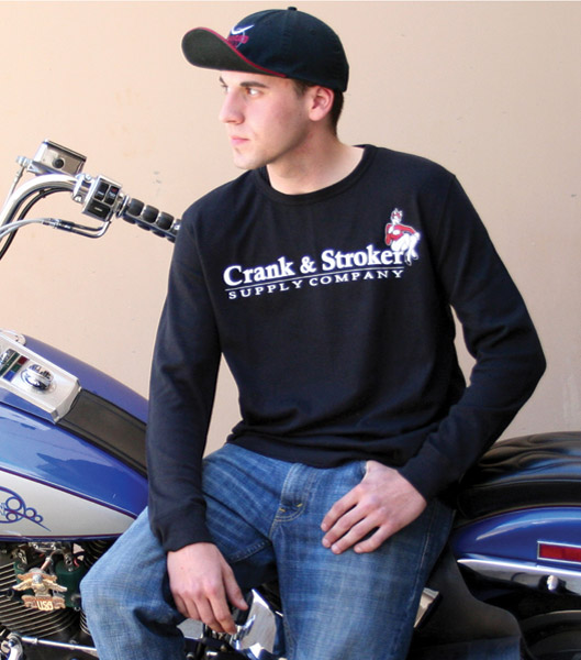 Crank & Stroker Supply Men's Long-Sleeve Black Thermal