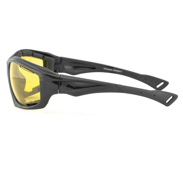 Bobster Desperado Black Sunglasses with Yellow Lens