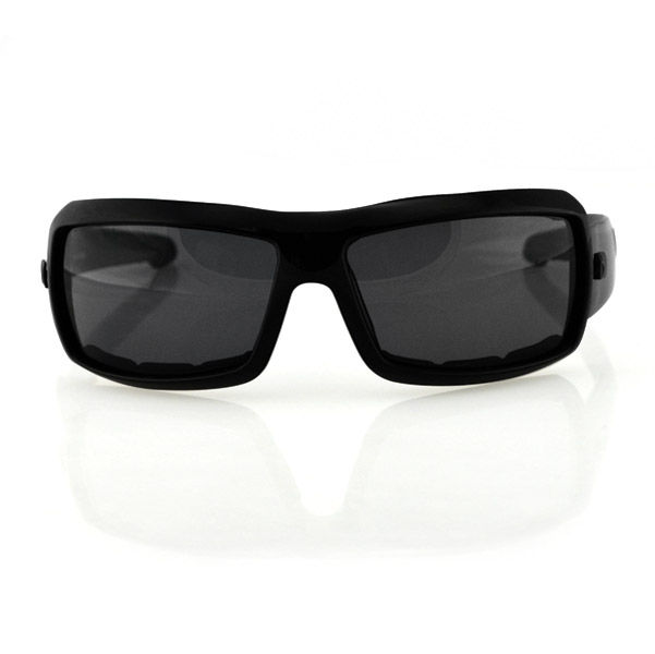 Bobster Trike Black Sunglasses with Smoke Lens