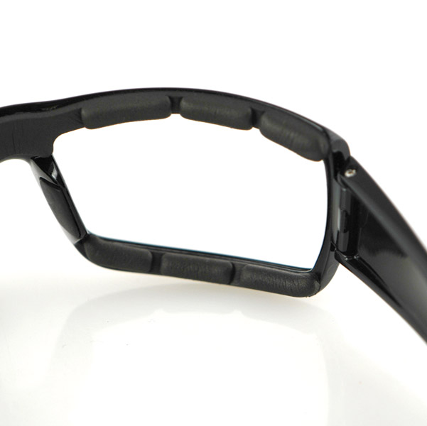 Bobster Trike Black Sunglasses with Clear Lens
